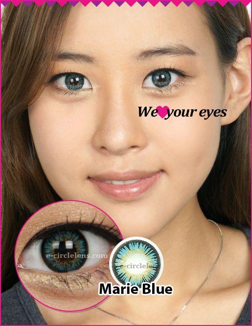 Marie Blue Contacts www.e-circlelens.com