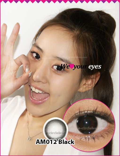 AM012 Black Contacts at e-circlelens.com
