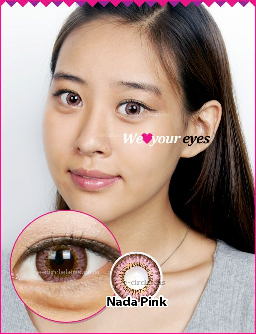 Nada Pink Contacts at e-circlelens.com