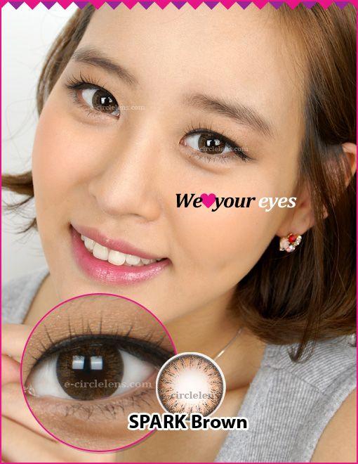 Spark Brown Contacts at e-circlelens.com