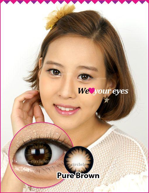 Pure Brown Contacts at www.e-circlelens.com