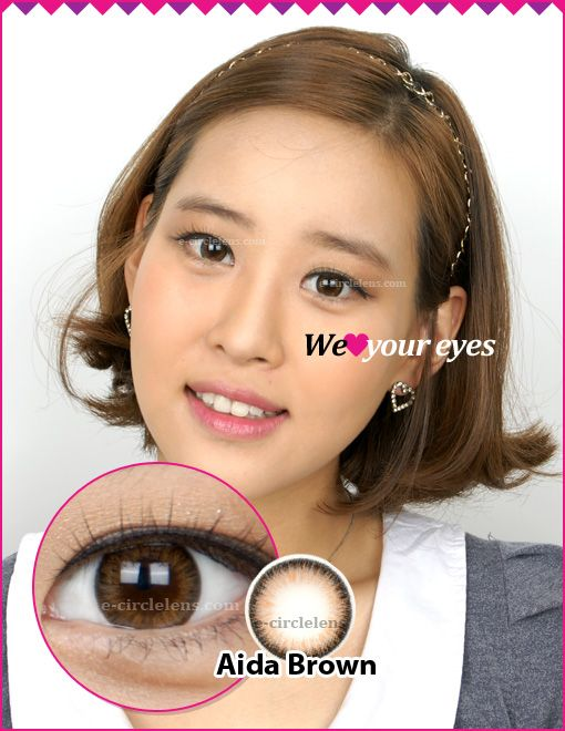 Aida Brown Contacts (Toric Colored Contacts) at e-circlelens.com