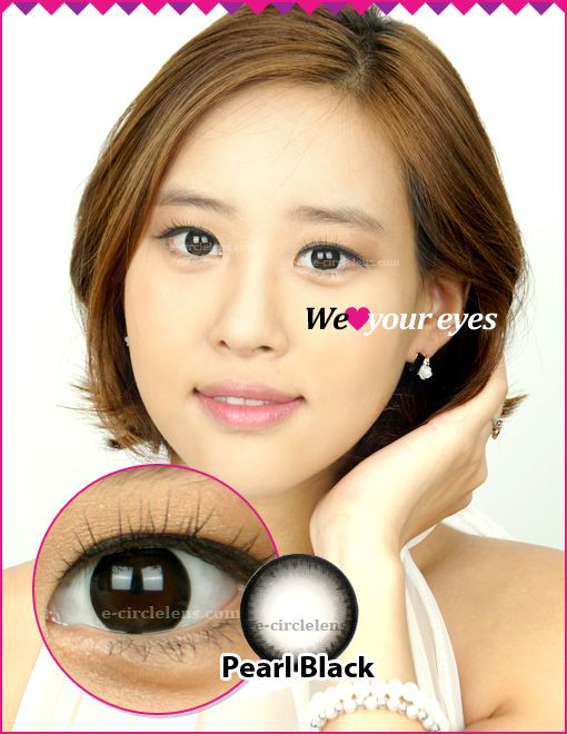 Pearl Black Contacts at e-circlelens.com