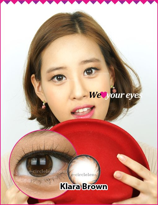 Klara Brown Toric Contacts for Astigmatism at e-circlelens.com. They are good for natural looking eyes.