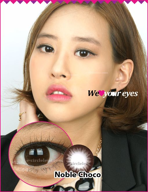 Noble Choco Contacts at e-circlelens.com