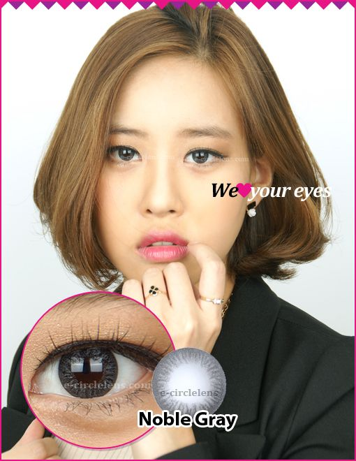 Noble Gray Contacts at e-circlelens.com