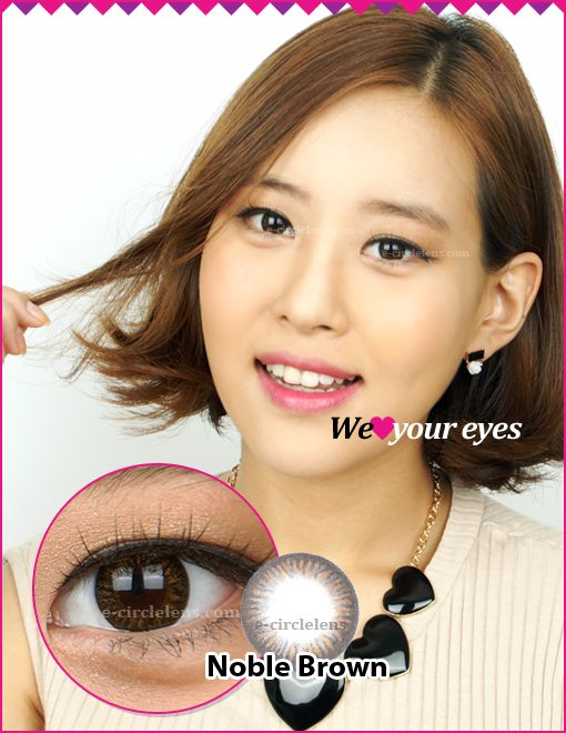 Noble Brown Contacts at e-circlelens.com