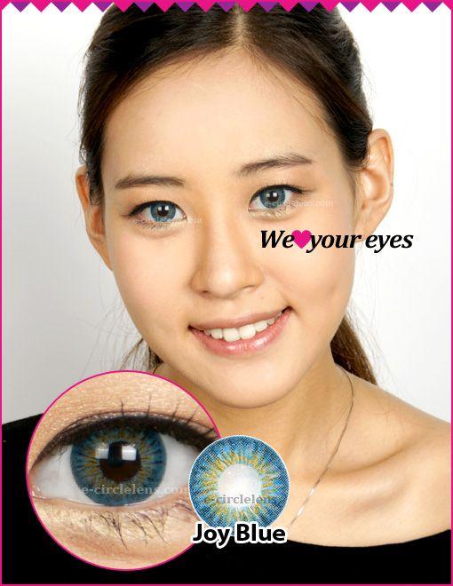 Joy Blue Contacts at www.e-circlelens.com