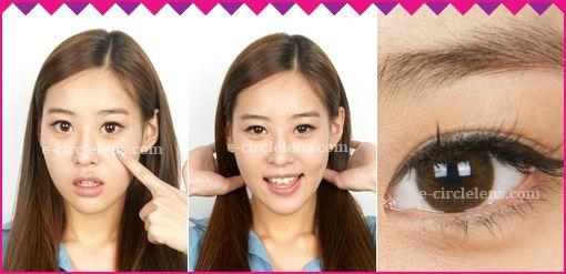 Dali Extra Brown Contacts (Hyepropia) at e-circlelens.com