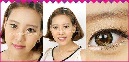 I fax Y33 Brown Contacts  at e-circlelens.com