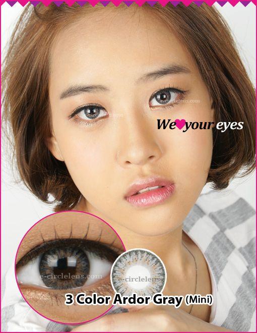 3 Color Ardor Gray Contacts (Mini) at www.e-circlelens.com