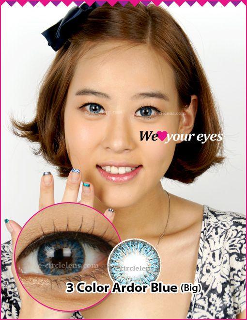 3 Color Ardor Blue Contacts (Big) at e-circlelens.com
