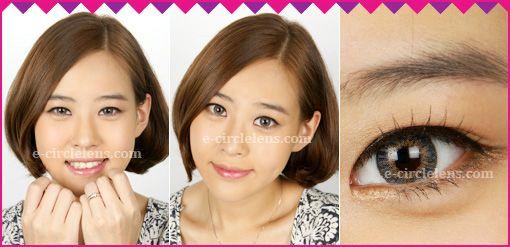 3 Color Ardor Gray Contacts at www.e-circlelens.com