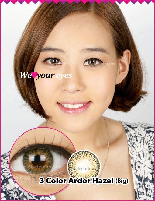 3 Color Ardor Hazel Contacts (Big) at www.e-circlelens.com