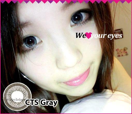 CTS Gray Contacts at www.e-circlelens.com