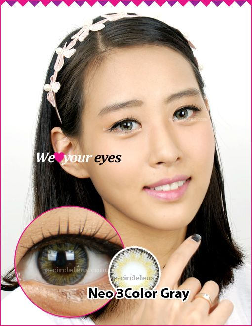 Neo 3 Color Gray Contacts at e-circlelens.com