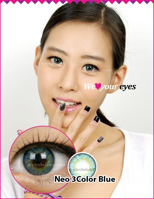 Neo 3 Color Blue Contacts at www.e-circlelens.com