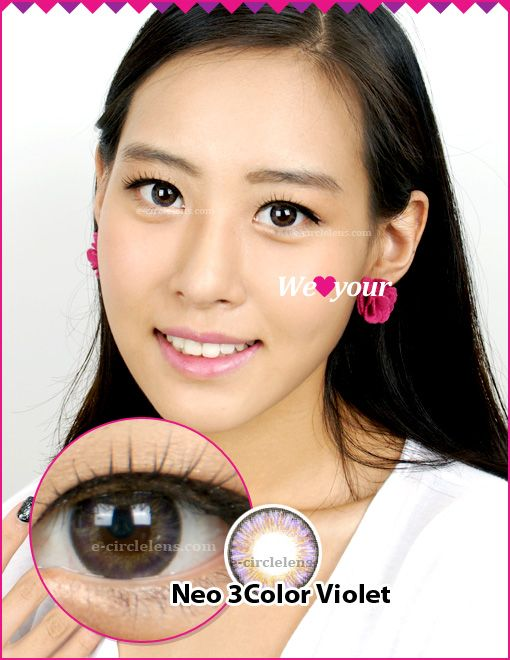 Neo 3 Color Violet Toric Contact Lenses for Astigmatism at www.e-circlelens.com