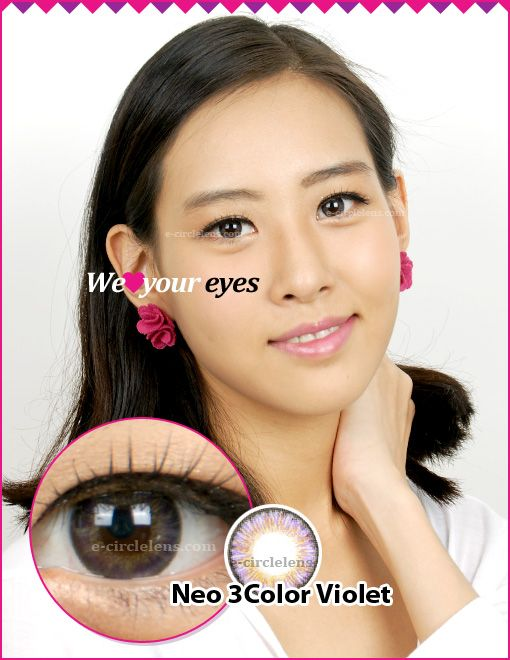 Neo 3 Color Violet Contacts at www.e-circlelens.com