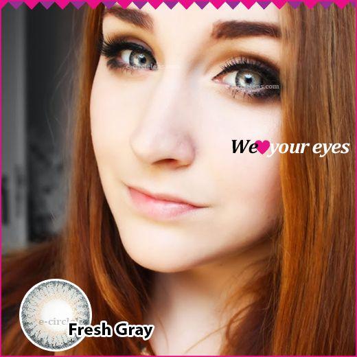 Fresh Gray Contacts at e-circlelens.com