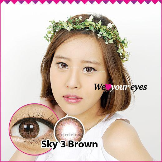 SKY 3 Brown Contacts at e-circlelens.com