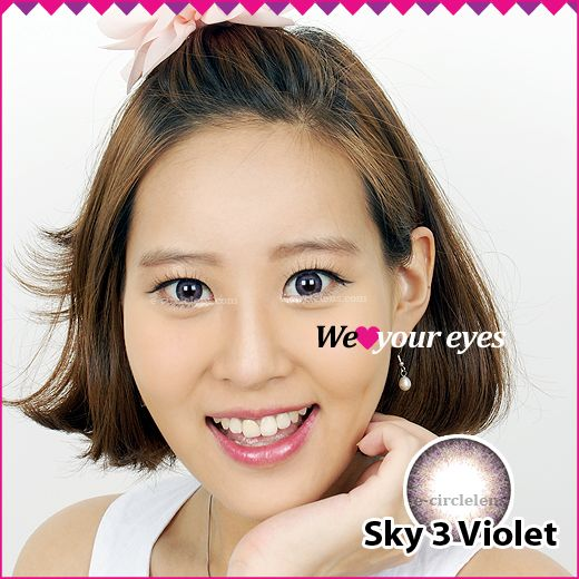 Sky 3 Violet Contacts at e-circlelens.com