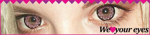 WT-A07 Pink Contacts at e-circlelens.com