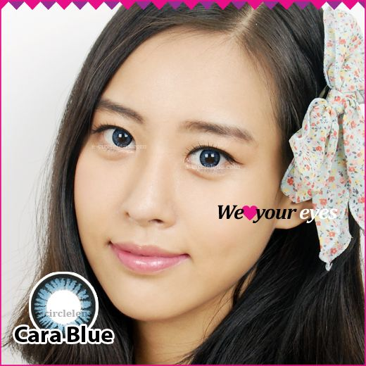 Cara Blue Contacts at e-circlelens.com