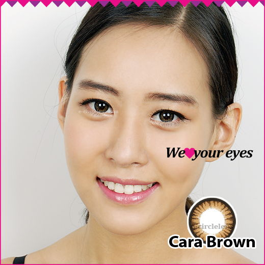 Cara Brown Contacts at e-circlelens.com