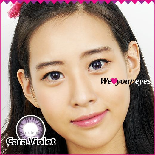 Cara Violet Contacts at e-circlelens.com