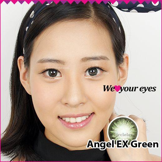 Angel EX Green Contacts at e-circlelens.com