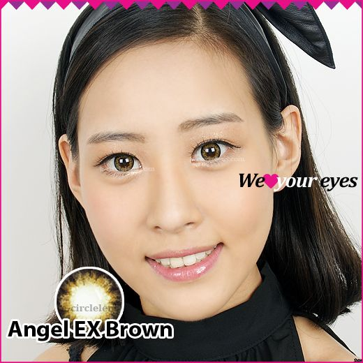 Angel EX Brown Contacts at e-circlelens.com