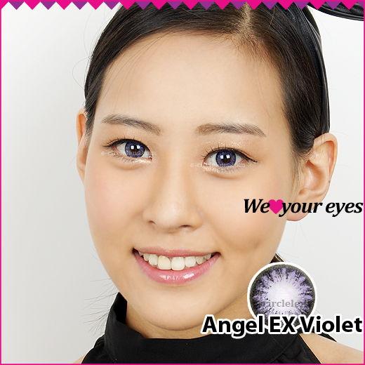 Angel EX Violet Contacts at e-circlelens.com