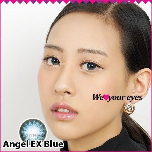 Angel EX Blue Contacts at e-circlelens.com