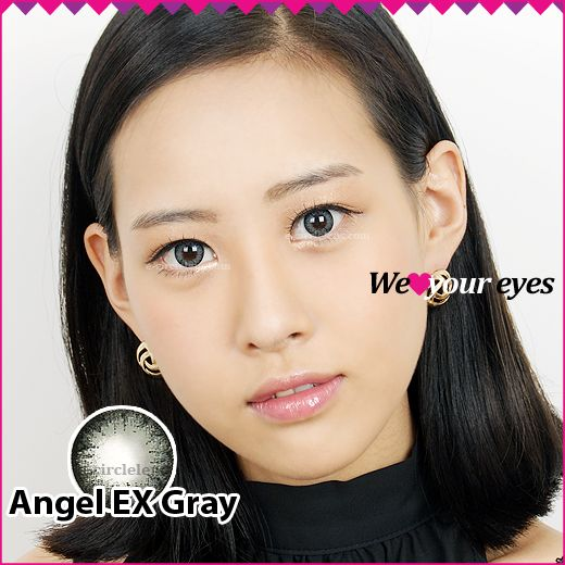 Angel EX Gray Contacts at www.e-circlelens.com