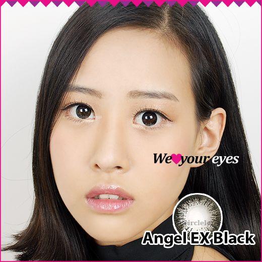 Angel EX Black Contacts at www.e-circlelens.com