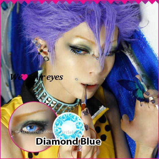 Shining Diamond Blue Contacts at e-circlelens.com