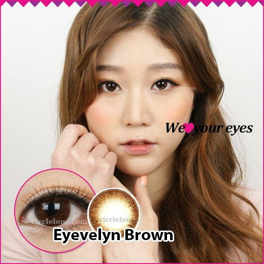 Eyevelyn Brown Contacts at e-circlelens.com