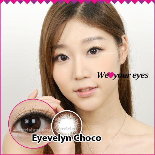 Eyevelyn Choco Contacts at e-circlelens.com