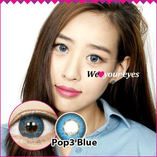 Pop 3 Blue Contacts at www.e-circlelens.com