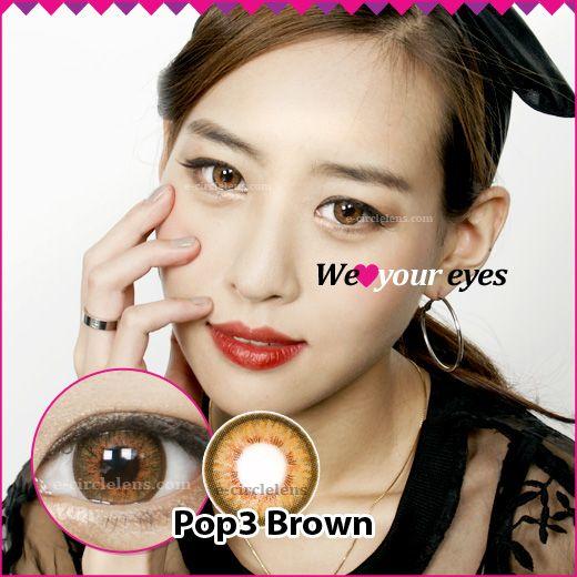 Pop 3 Brown at e-circlelens.com