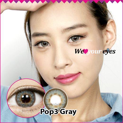 Pop 3 Gray at e-circlelens.com