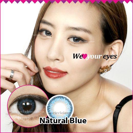 Natural Blue Contacts at e-circlelens.com