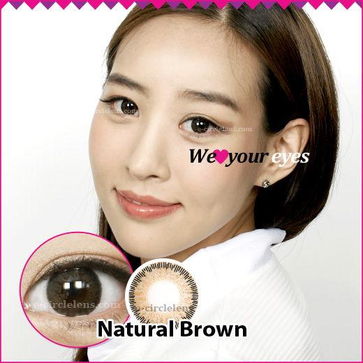 Natural Brown Contacts at e-circlelens.com
