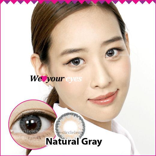Natural Gray Contacts at e-circlelens.com