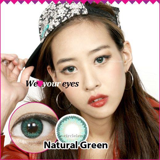 Natural Green Contacts at e-circlelens.com