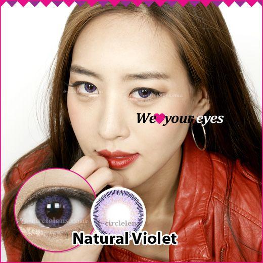 Natural Violet Contacts at e-circlelens.com