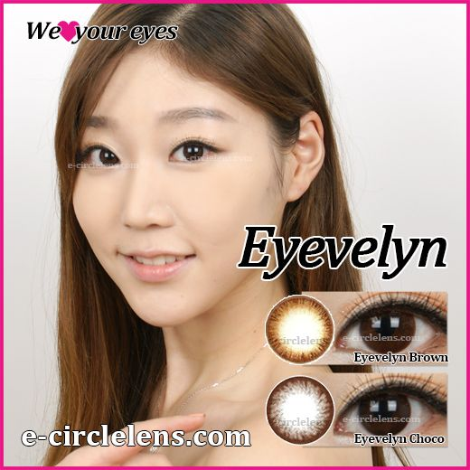 Eyevelyn Brown & Choco at e-circlelens.com
