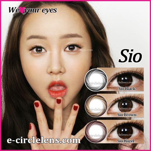 Sio Black & Brown & Hazel at e-circlelens.com