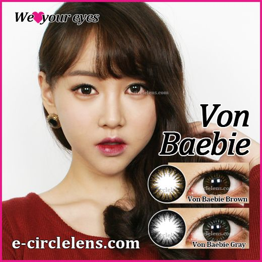 Von Natural Fit Barbie Brown & Gray at e-circlelens.com